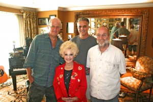 We're not sorry: Brenda Lee gave full props to Springfield for her legendary music career along with some great Ronnie Self stories: (L to R) Dave Hoekstra, Brenda, Rene' Greblo, Tom Vlodek. (July 13, 2015 Brenda's home in Nashville, Tn.)